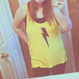 Wildfox PRIDE LIGHTENING BOLT tank top